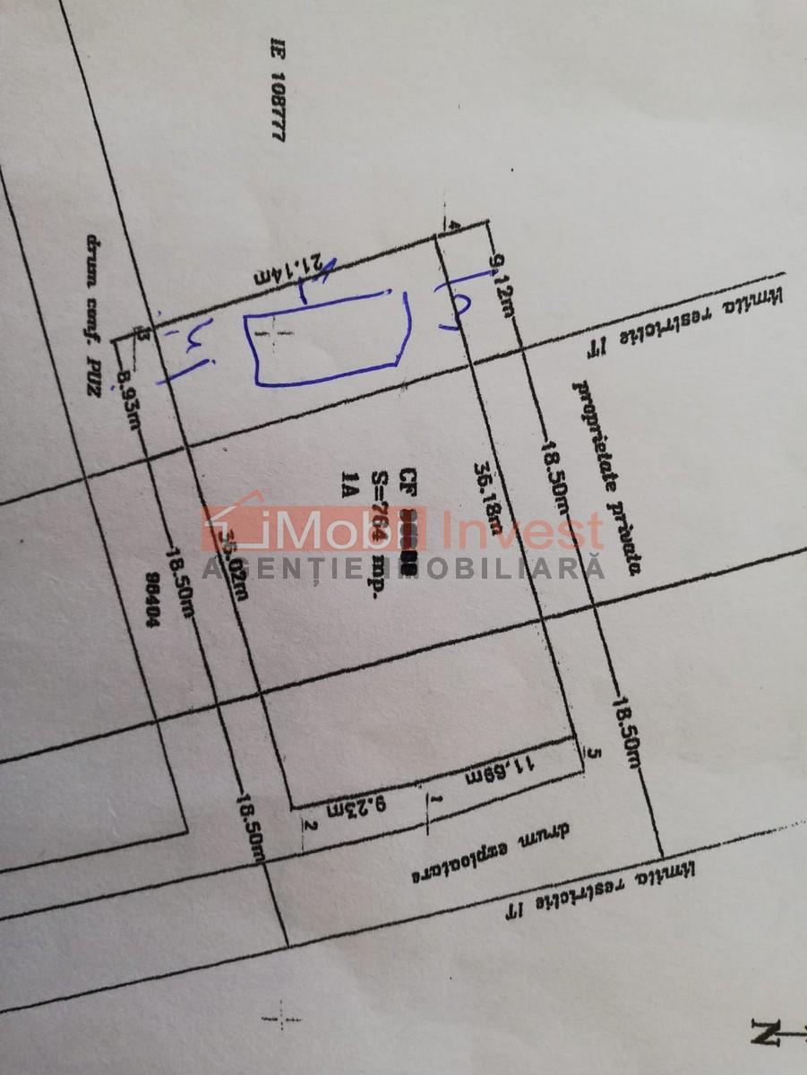 Teren pentru constructie casa, 764 mp, zona Micesti